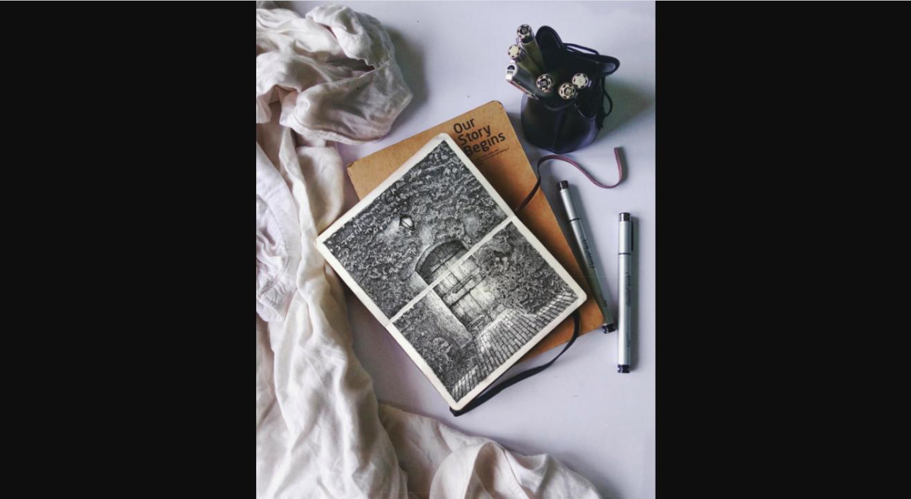Rustic Doors: Pen&Ink Workshop with Niranjan
