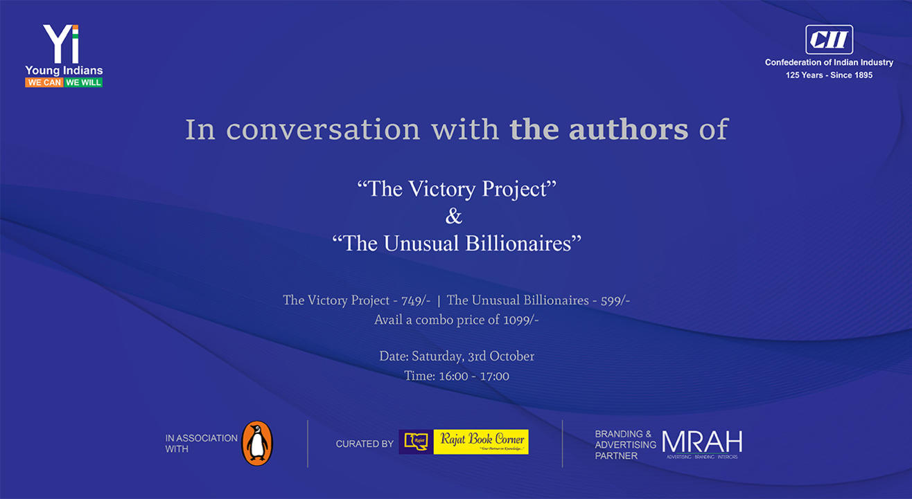 Live Interaction With The Authors of The Victory Project and The Unusual Billionaires - Saurabh Mukherjea and  Anupam Gupta