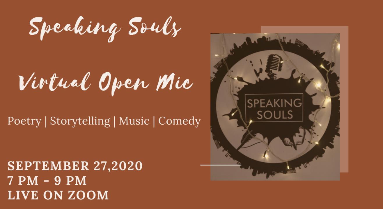 Speaking Souls : Virtual Open Mic