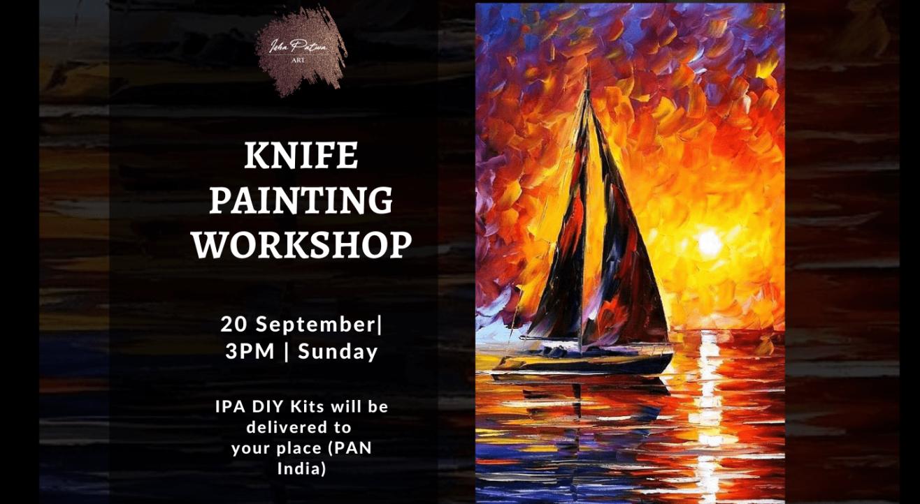 Sunset Knife Painting Workshop - IPA DIY Kits