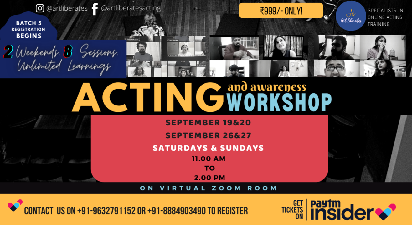 Art Liberates- Online Acting Workshop