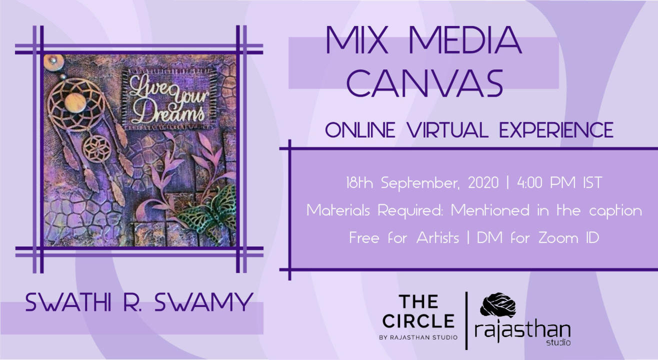 Mix Media on Canvas Workshop with Rajasthan Studio