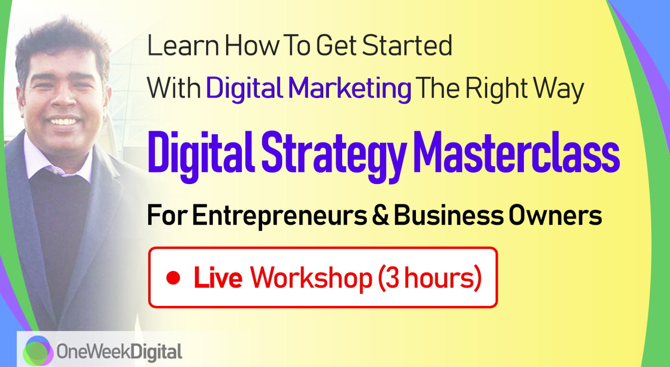 Digital Marketing Strategy Workshop for Entrepreneurs