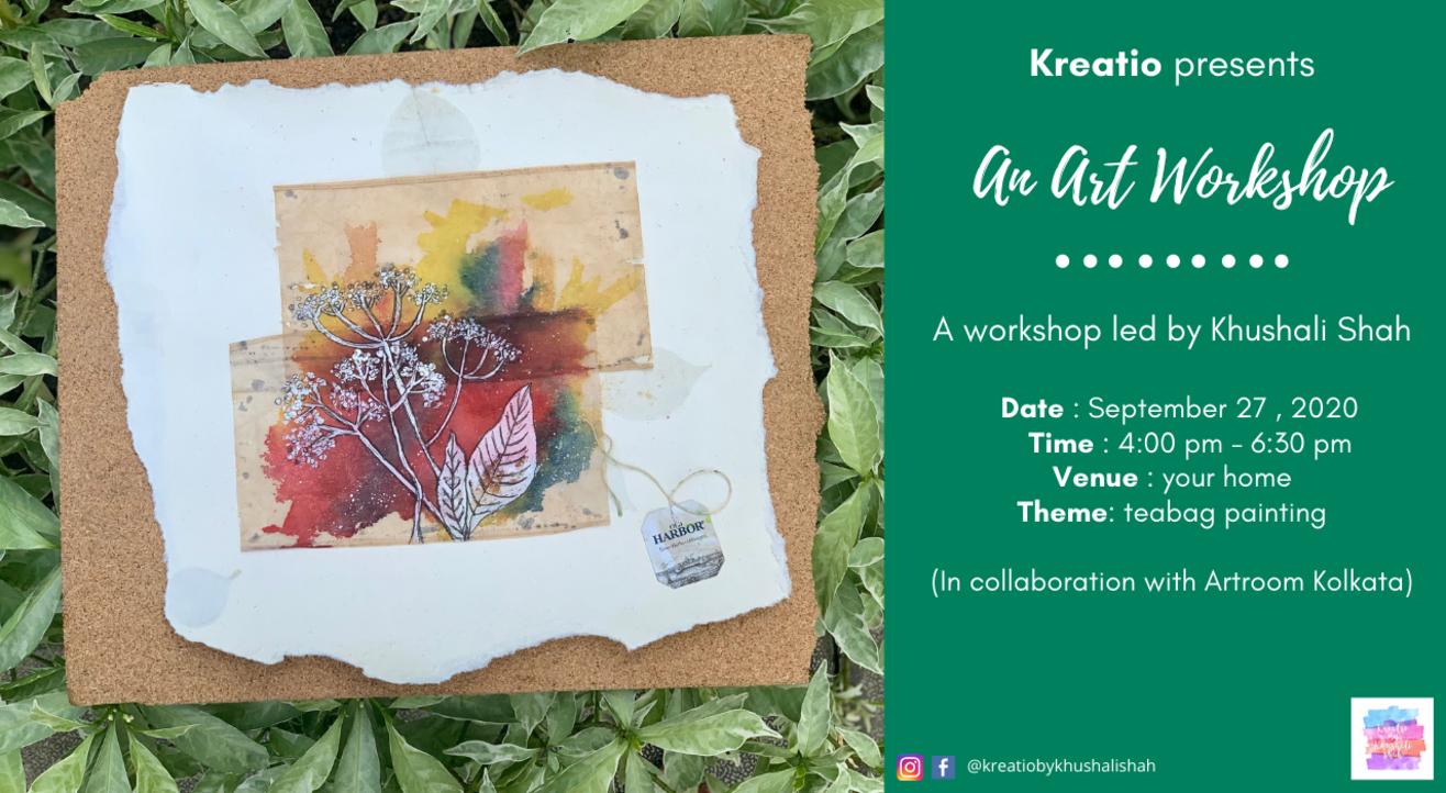 Art Workshop -Tea bag Painting