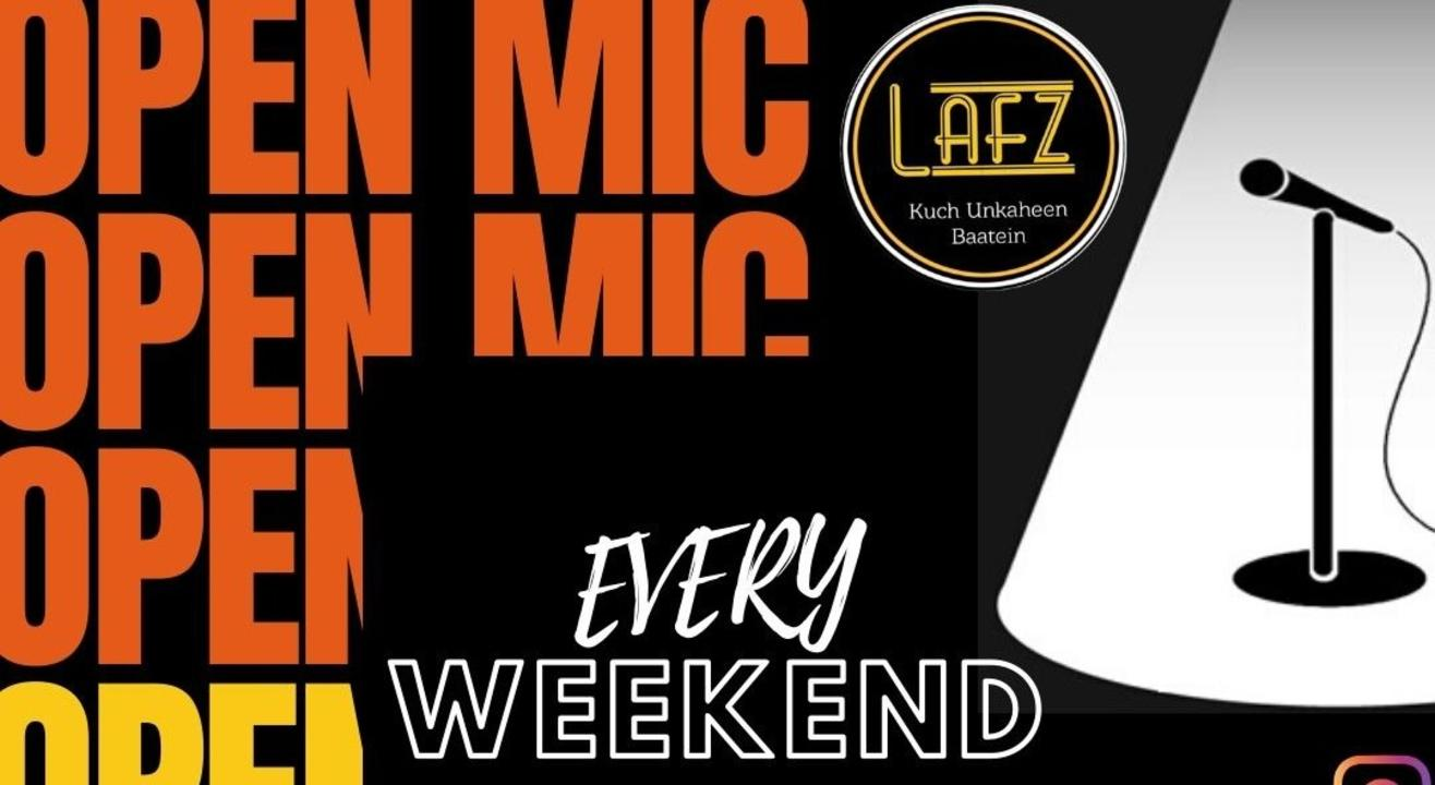 Open Mic I Poetry I Stand-up Comedy I I Lafz Entertainments