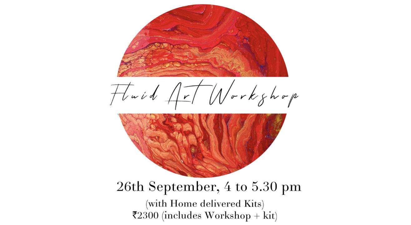 Online Fluid Art workshop with Kit