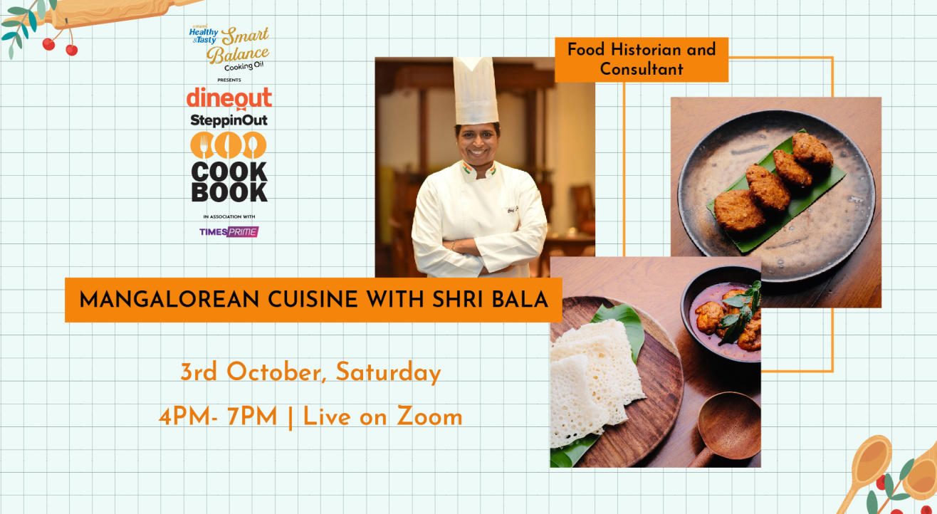 Dineout SteppinOut Cookbook with Chef Shri Bala