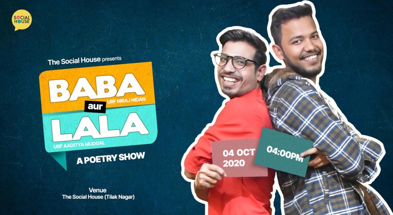 Baba aur Lala - A Poetry Show with Niraj Nidan and Aaditya Mudgal