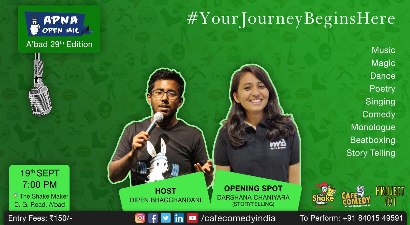 Apna Open Mic (Ahmedabad - 29th Edition)