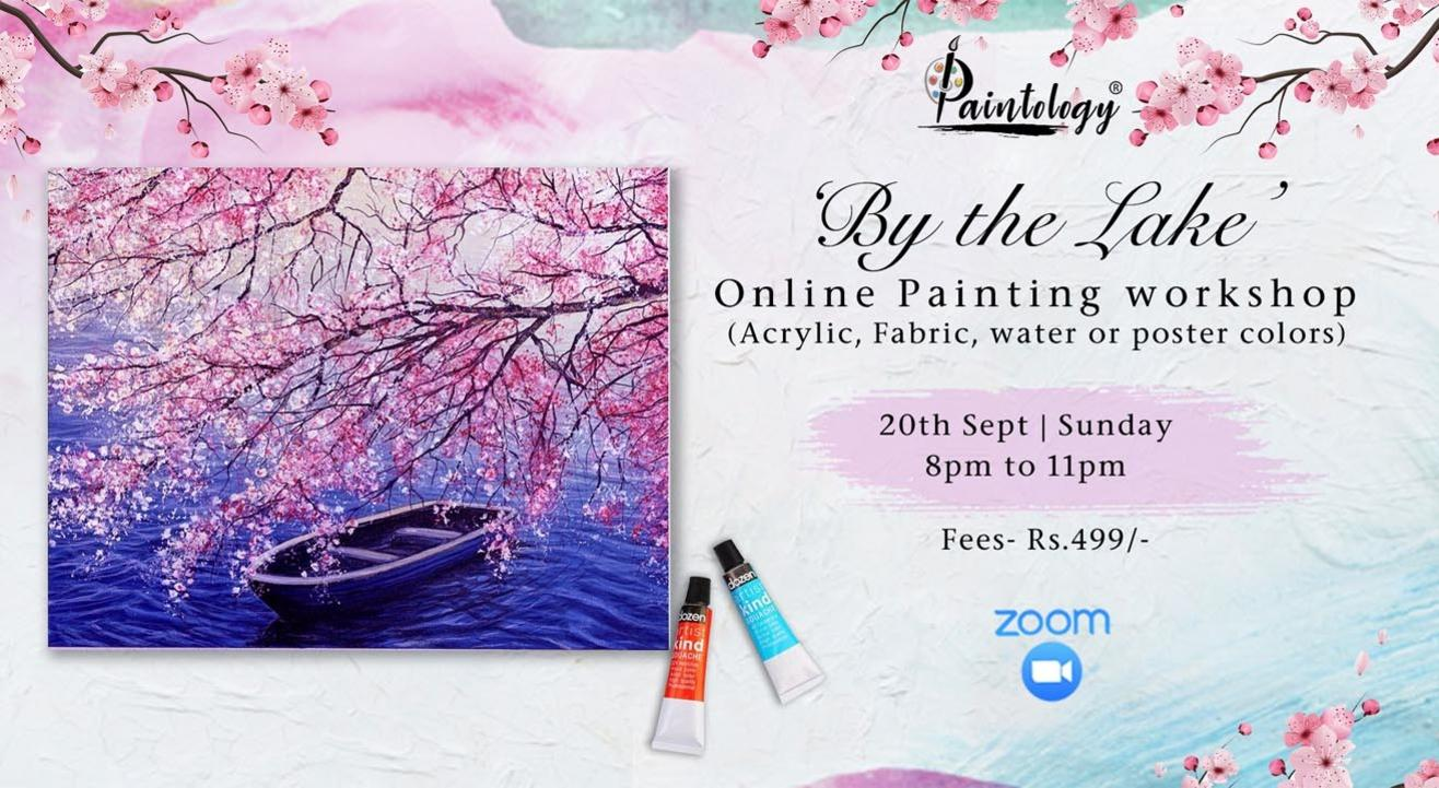 'By the Lake' painting workshop by Paintology