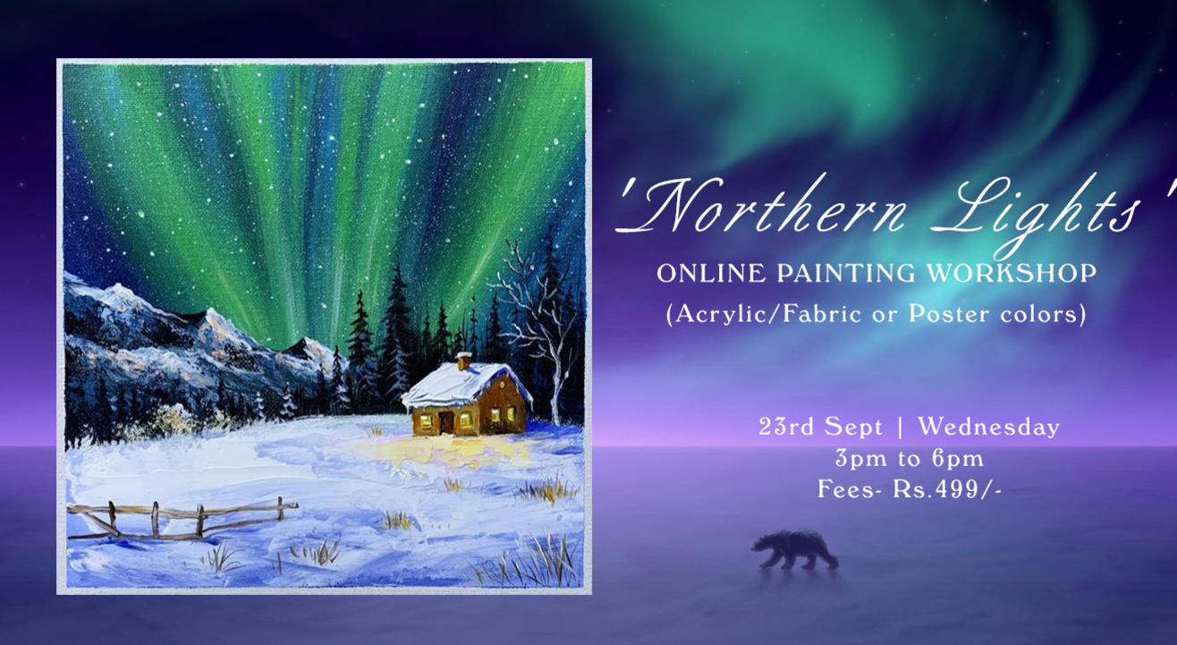'Northern Lights' Painting workshop by Paintology