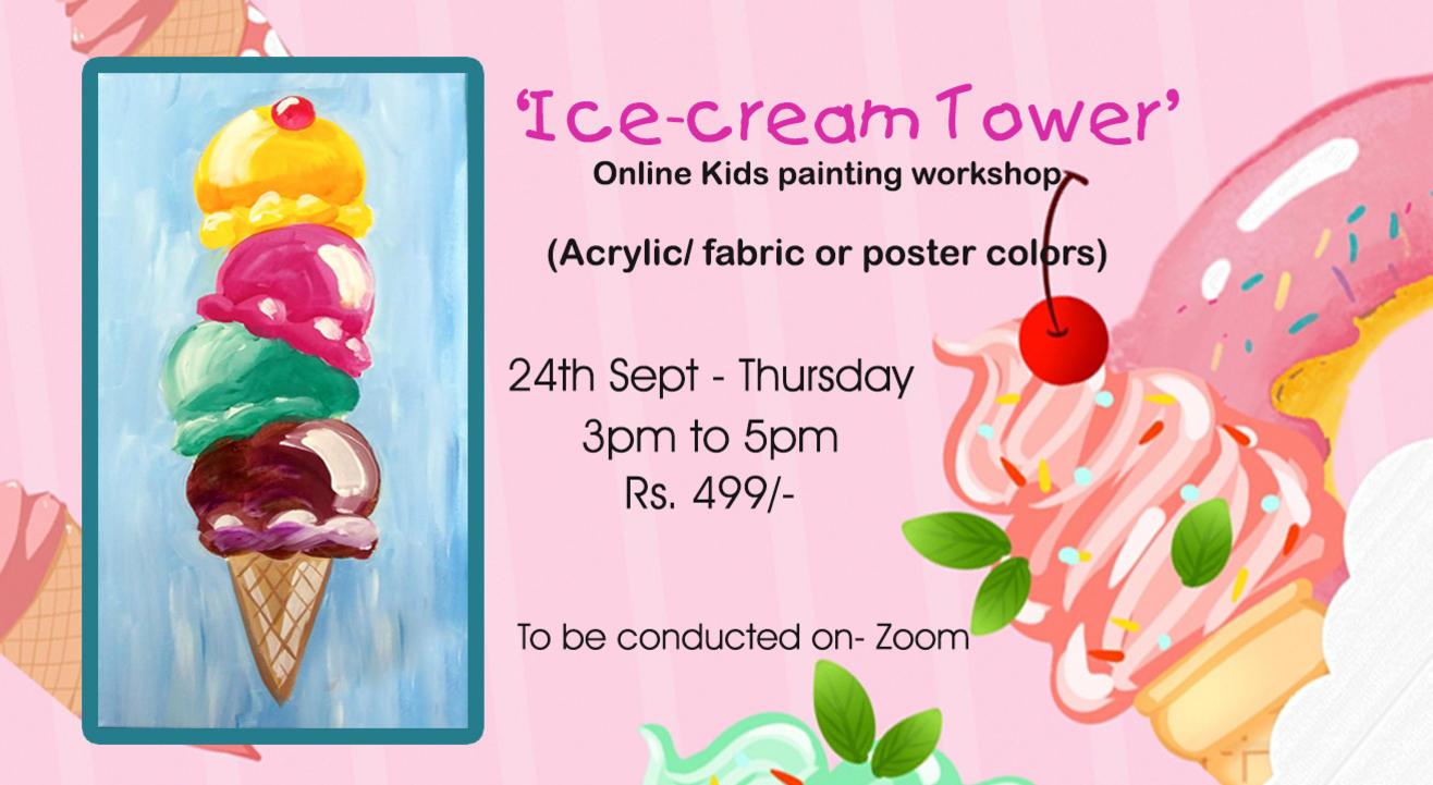 'Ice-cream tower' Kids painting workshop