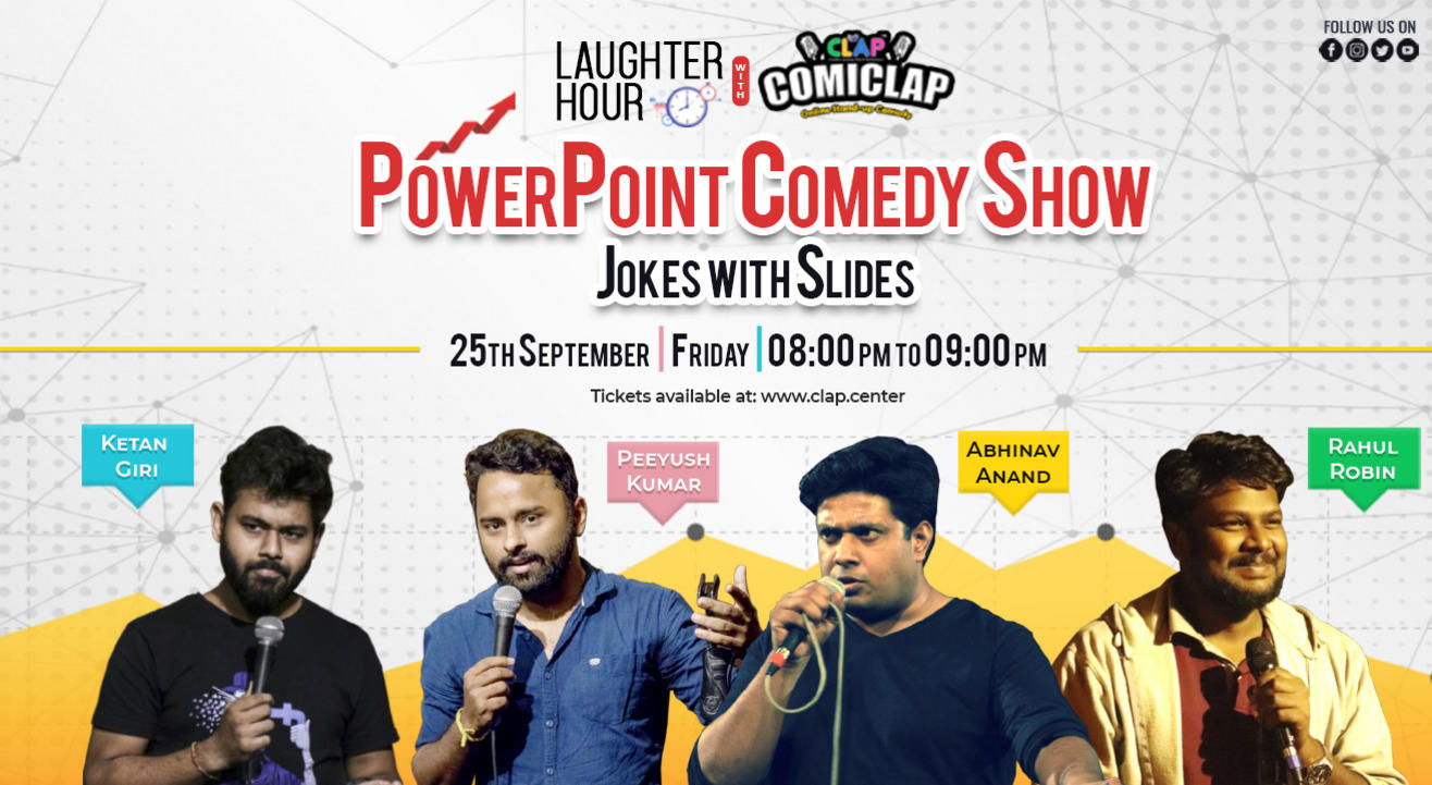 Laughter Hour with ComiCLAP -  PowerPoint Comedy Show