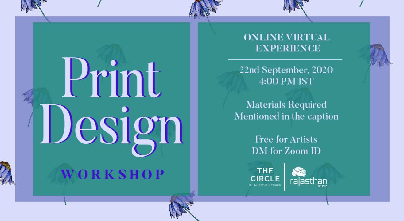 Print Design Workshop by Rajasthan Studio