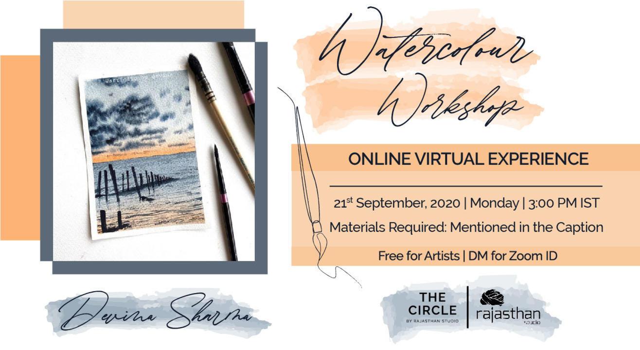 Watercolour Workshop with Rajasthan Studio