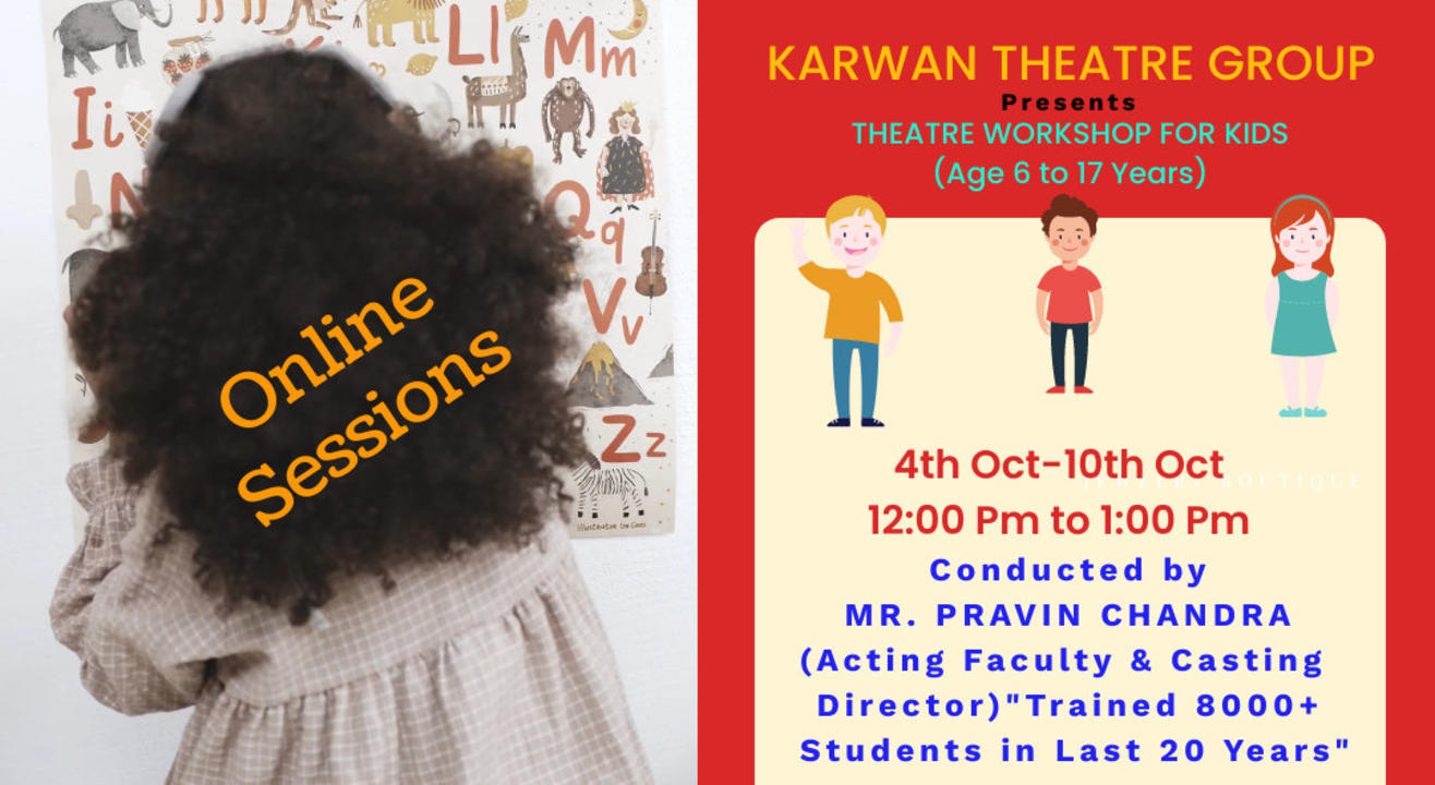 One Week Online Theatre Workshop For Kids(6 to 17 Years)