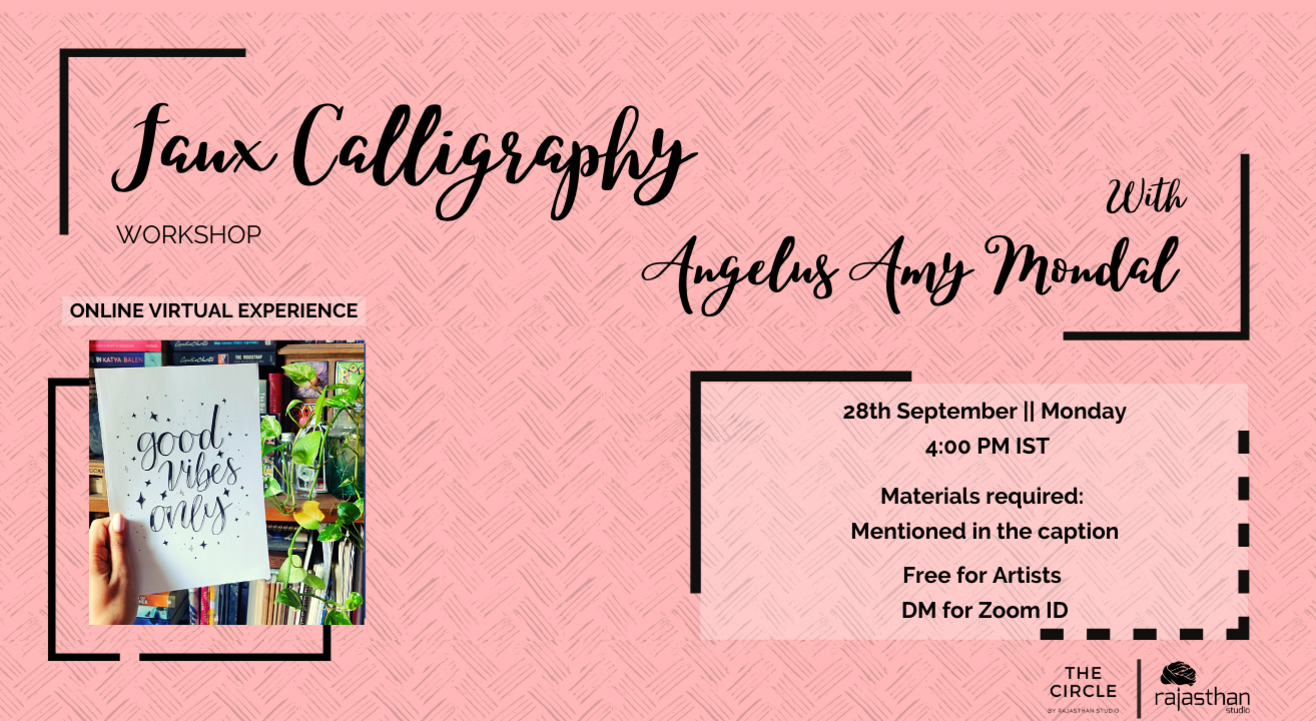 Faux Calligraphy Workshop by Rajasthan Studio