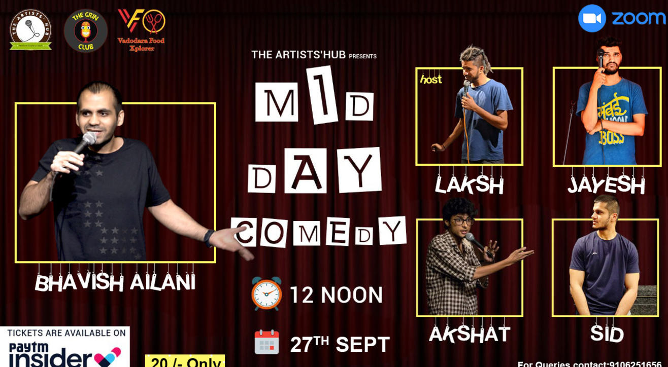 The Artists'Hub presents Mid day Comedy