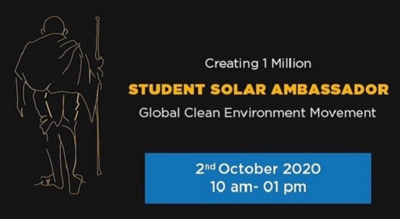Student Solar Ambassadors Workshop 2020: Global Clean Environment Movement