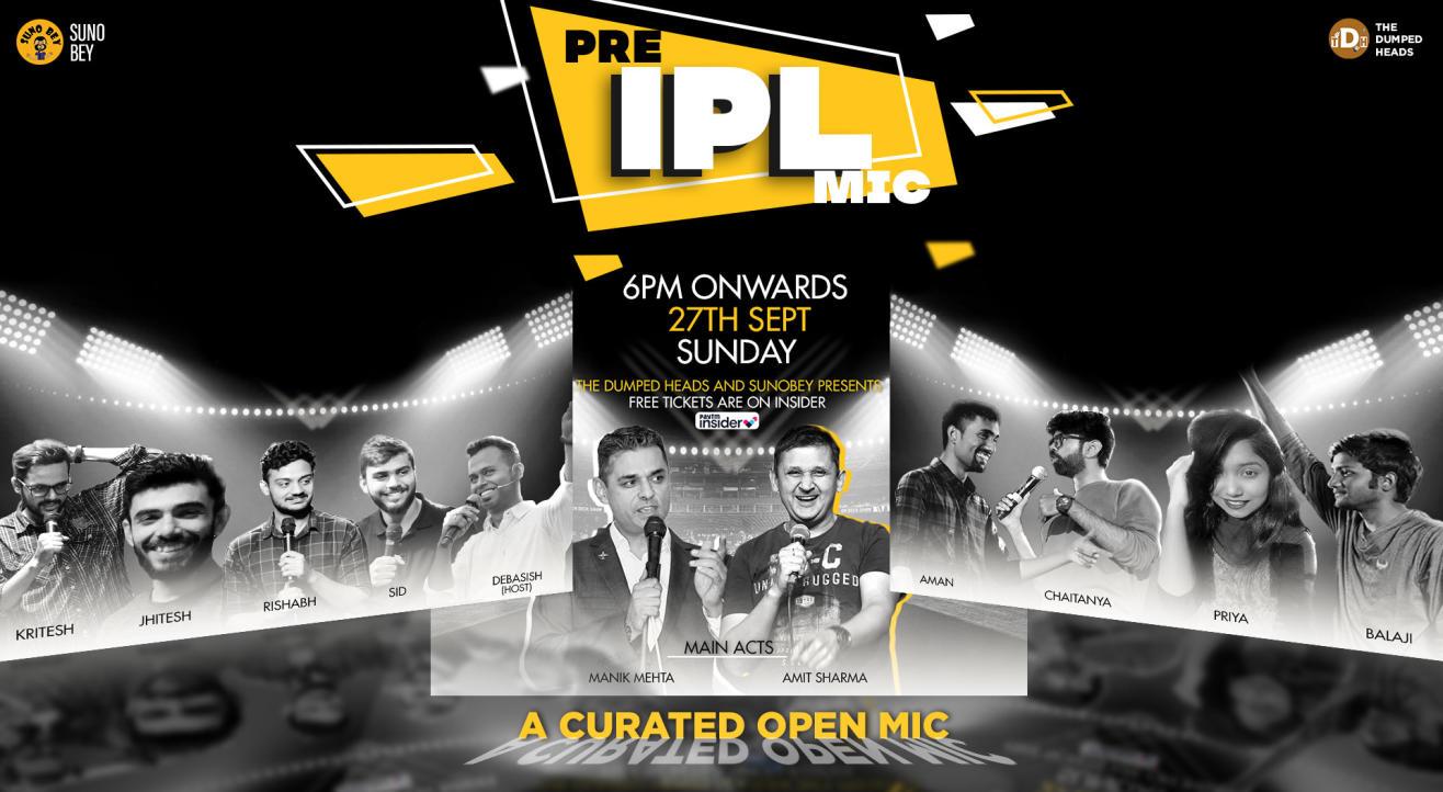 Pre IPL Mic | A Online Standup Comedy Open Mic