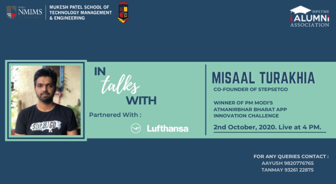 In Talks With (LIVE) Ft. Misaal Turakhia (Co-Founder of StepSetGo)