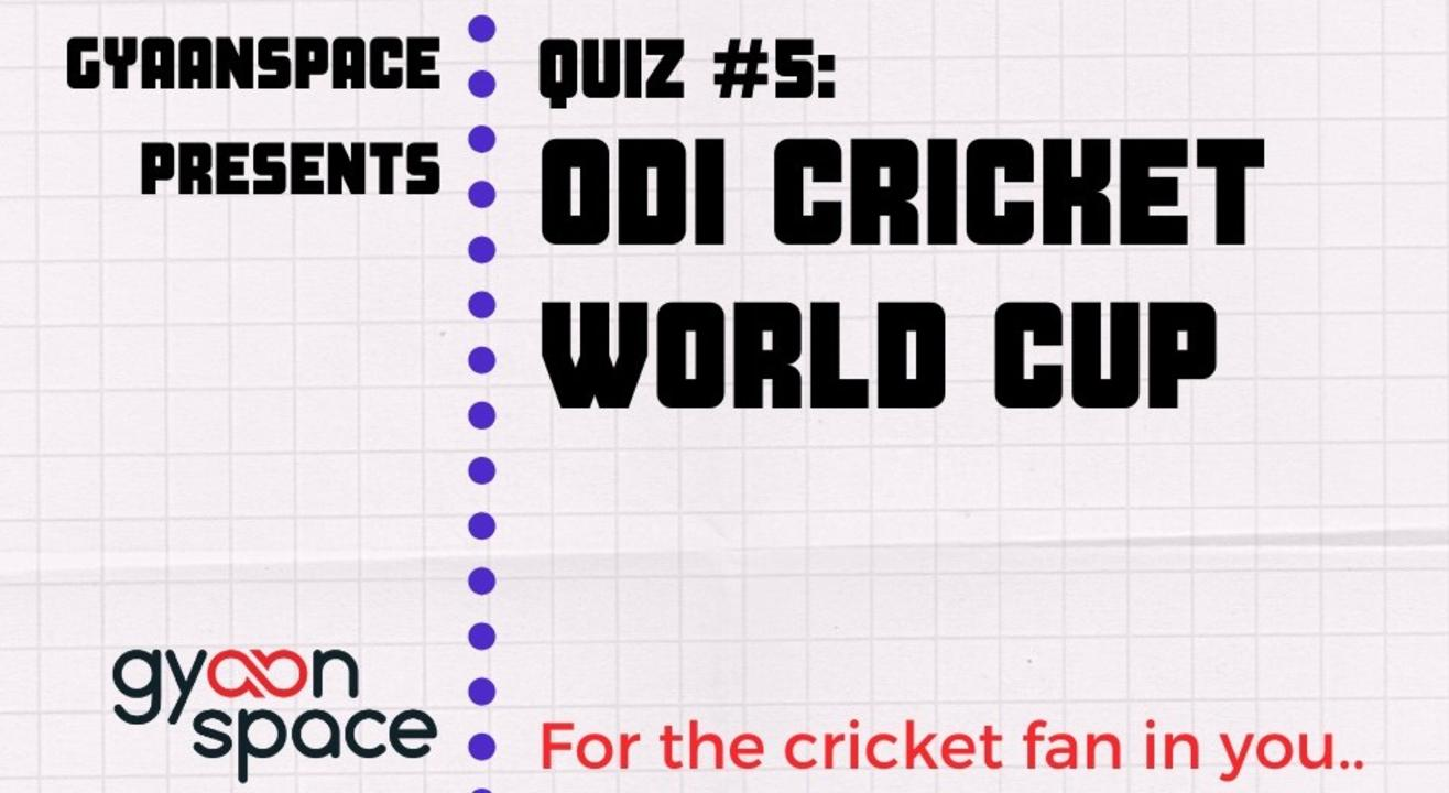 World Cup Cricket Quiz- Live on Zoom