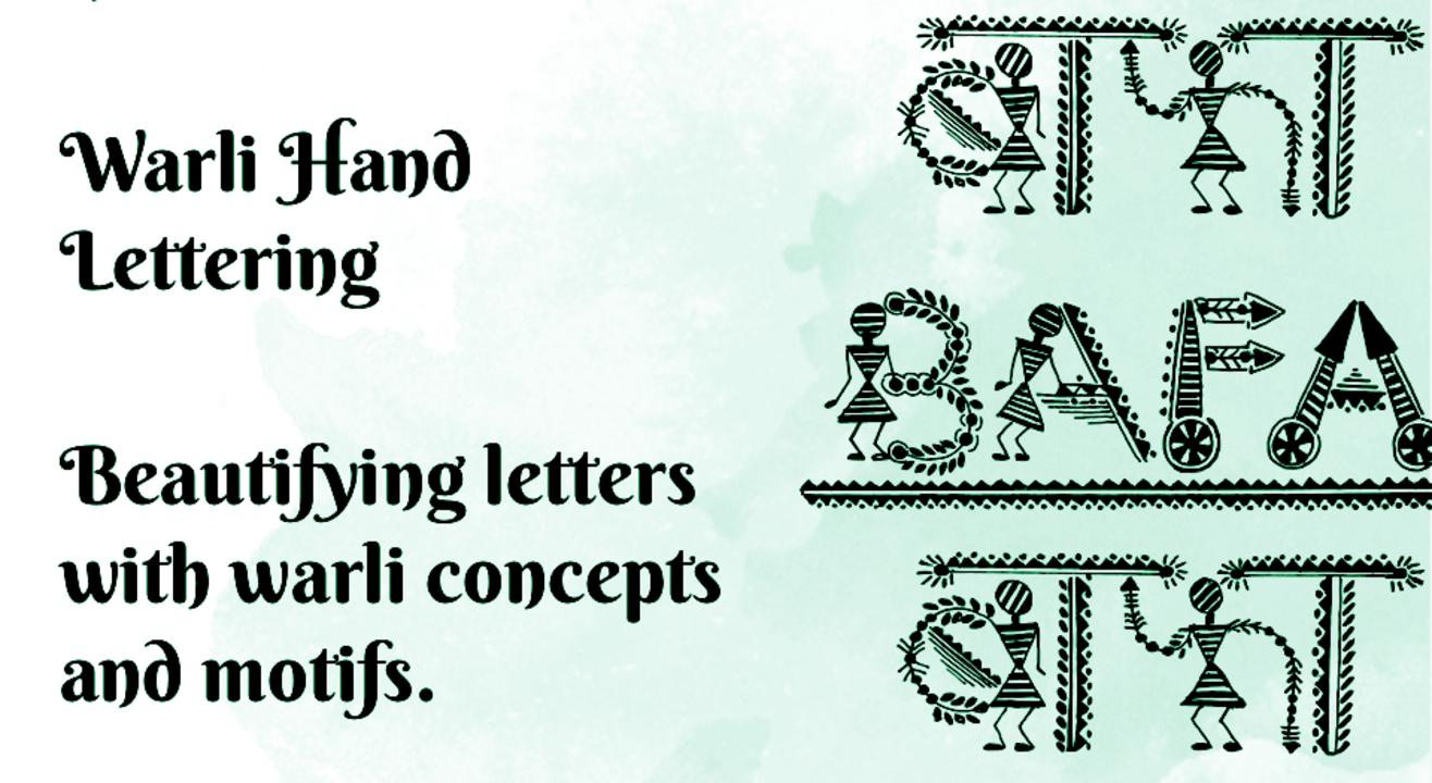 Warli Hand Lettering Workshop with BAFA