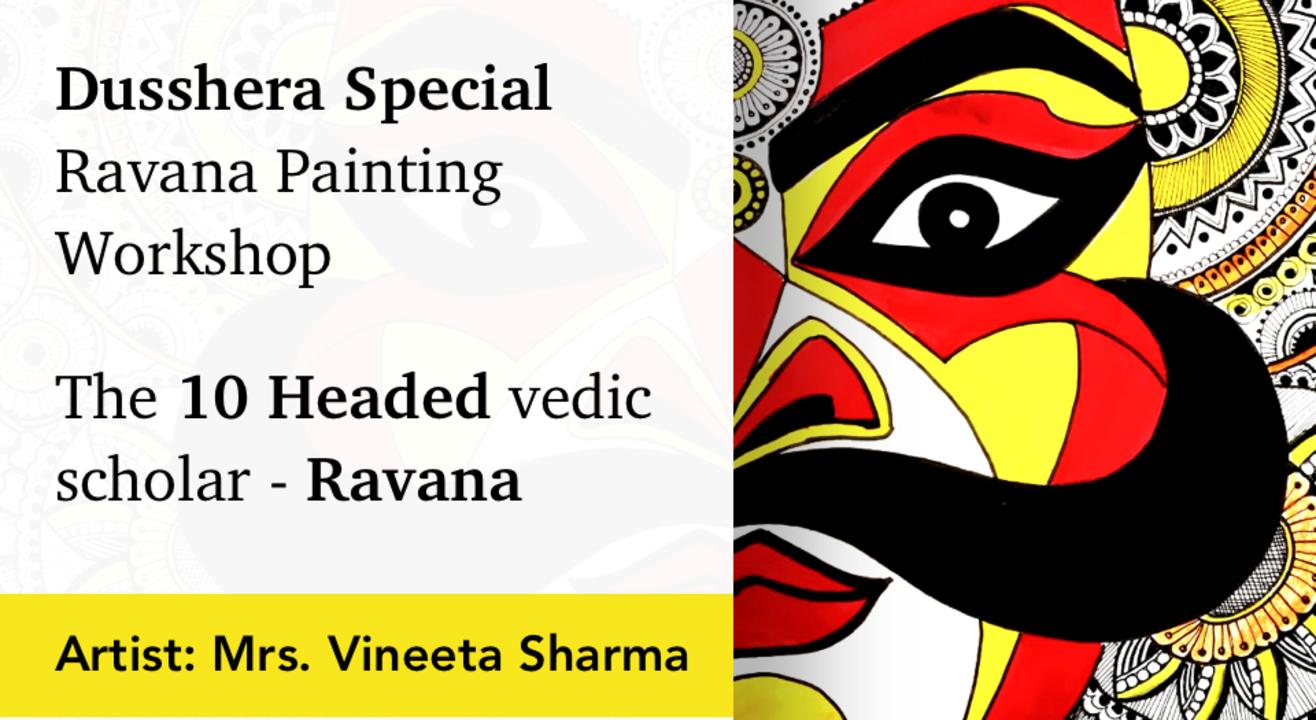 Ravana Painting Workshop with BAFA