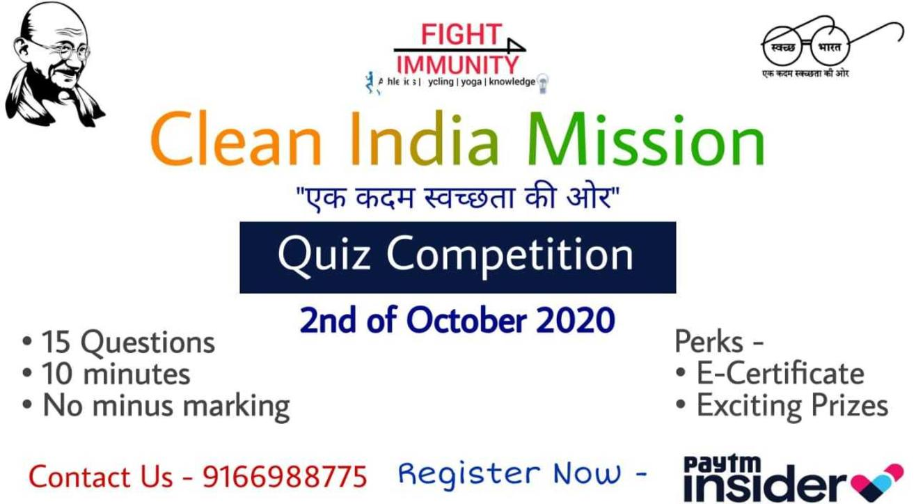 Clean India Mission Quiz Compitition