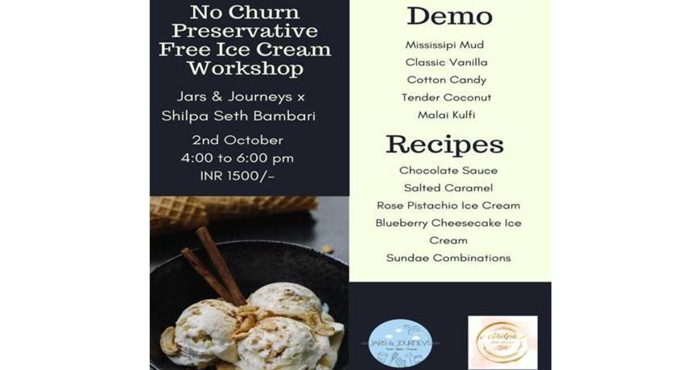 No Churn Preservative Free Ice Cream Workshop