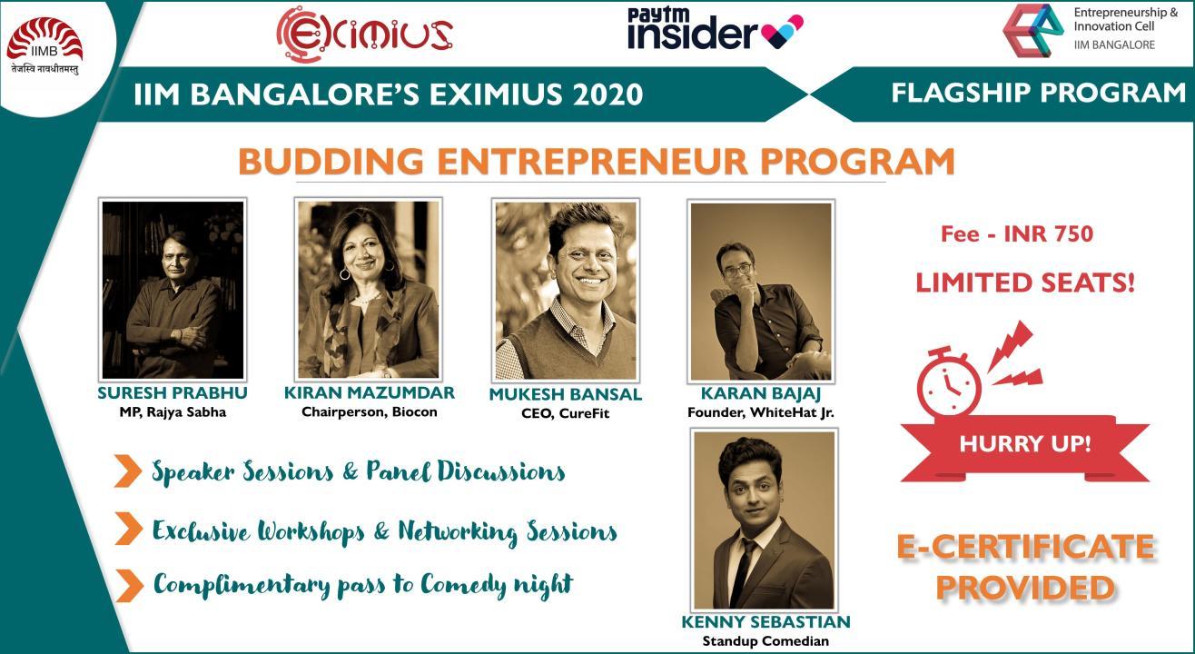 Budding Entrepreneur Program