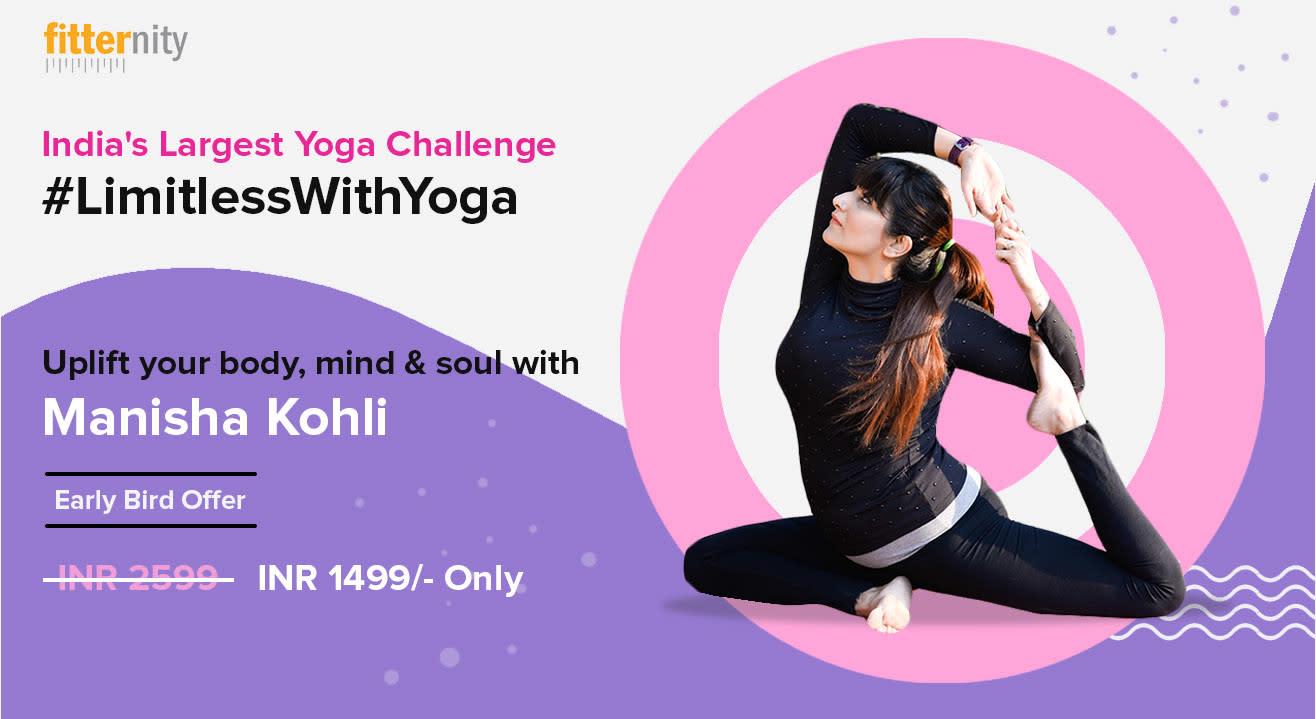 30 DAYS YOGA CHALLENGE With Manisha Kohli | Fitternity