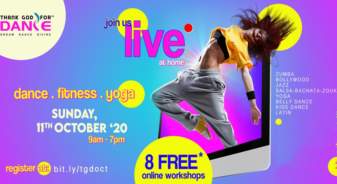 DANCE, FITNESS, YOGA at HOME | 8 FREE Online Workshops (11 Oct)