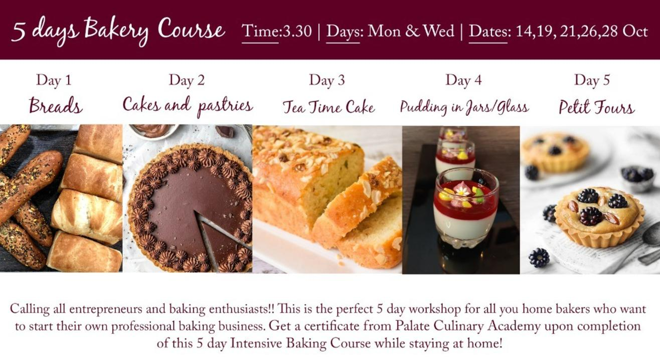 5 Day  Certificate Intensive Baking  Program with Rakhee Vaswani (EGGLESS)