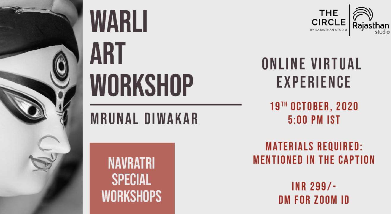 Navratri Specials -  Warli Art Workshop by Rajasthan Studio