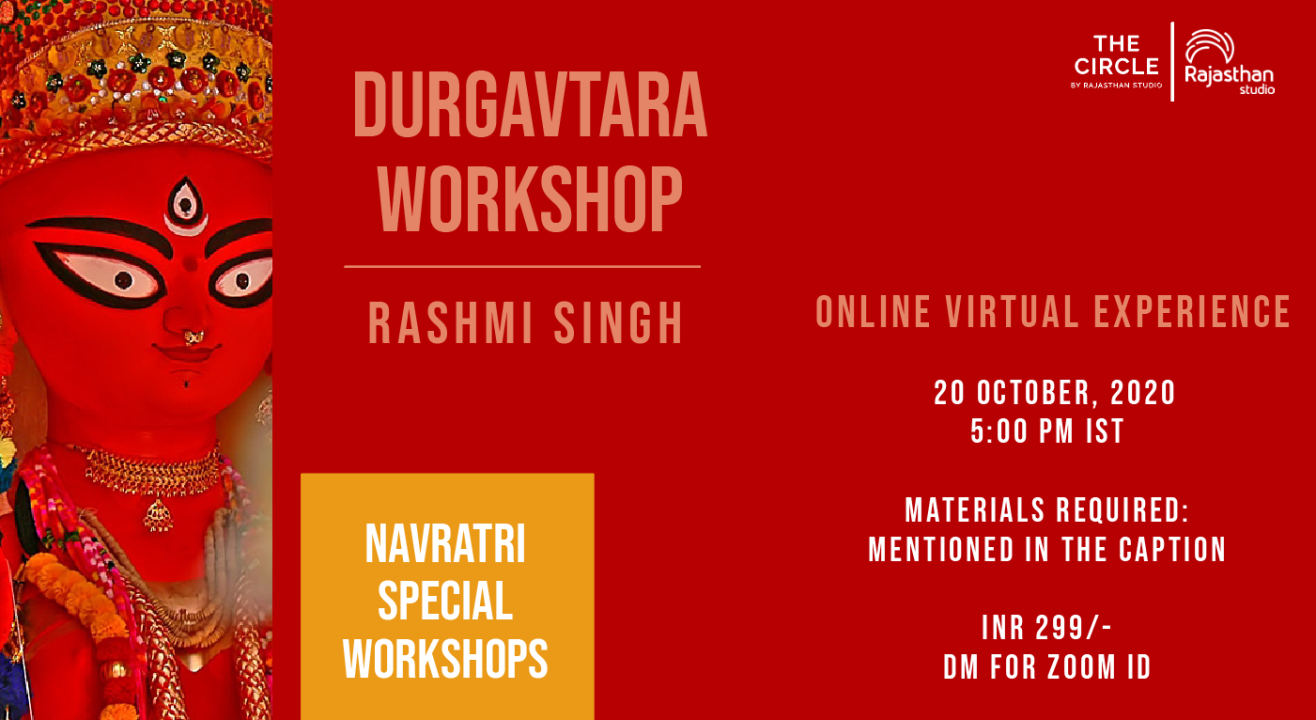 Navratri Specials - Durgavatar Workshop by Rajasthan Studio