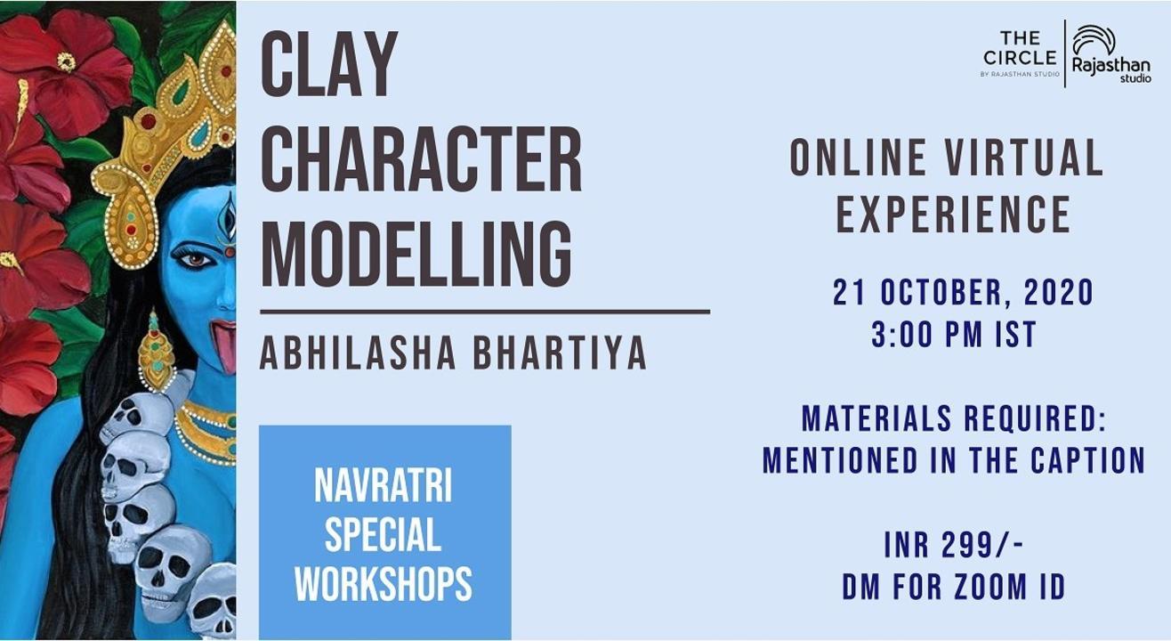 Navratri Specials - Clay Animation Workshop by Rajasthan Studio