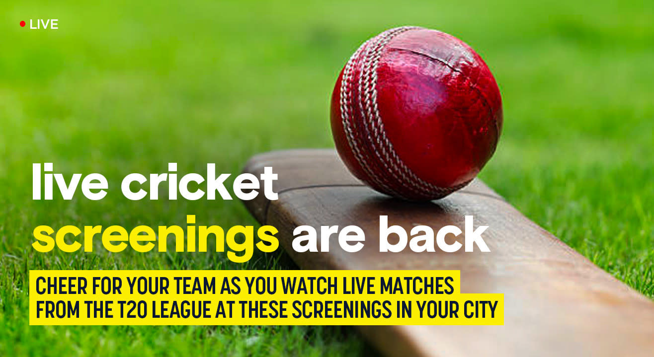 Just like the good ol' days! Watch IPL 2020 on the big screen at these screenings