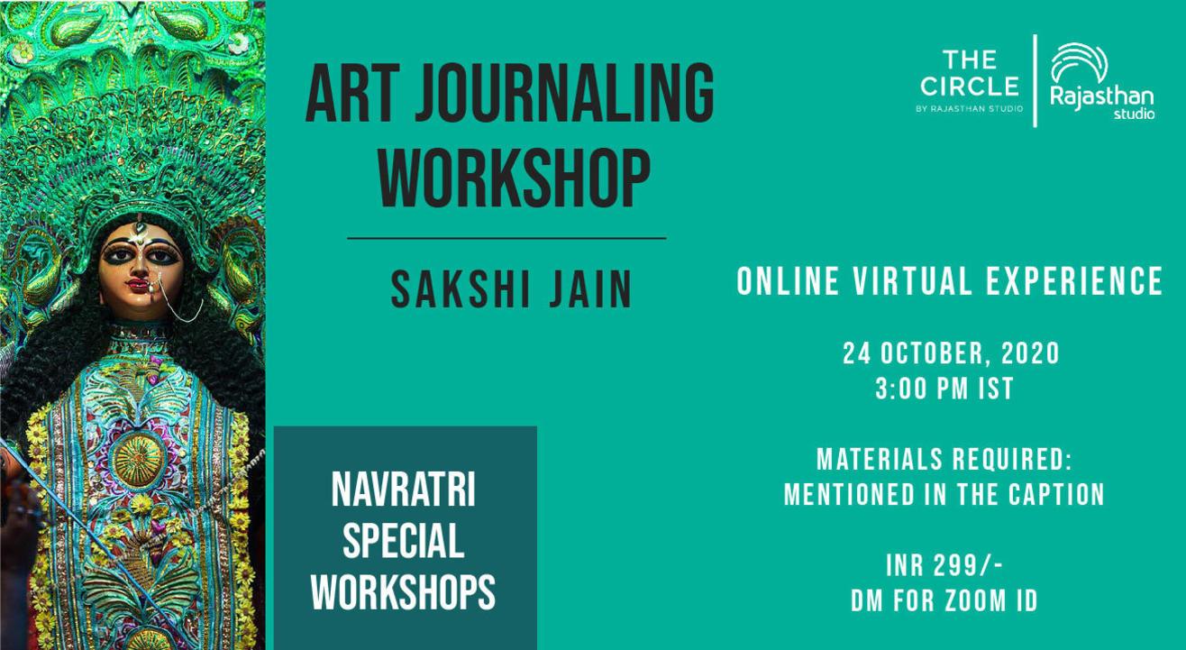Navratri Specials - Art Journaling Workshop by Rajasthan Studio