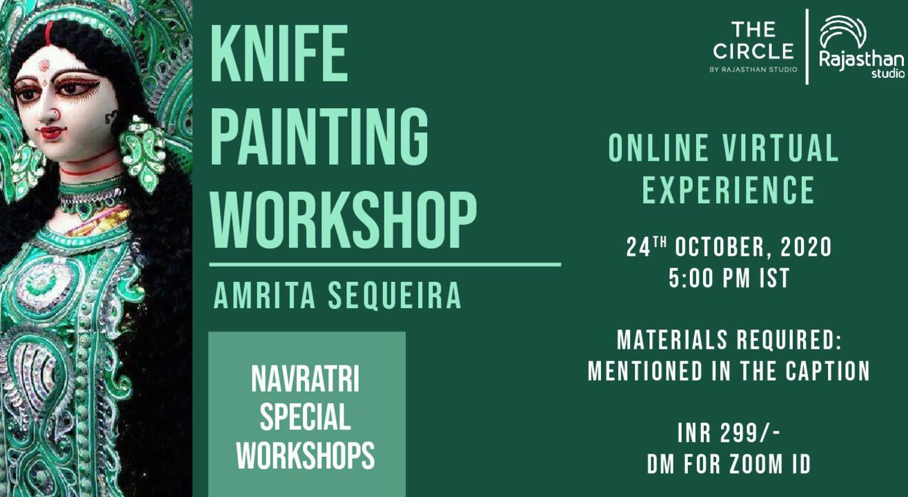 Navratri Specials - Knife Painting Workshop by Rajasthan Studio