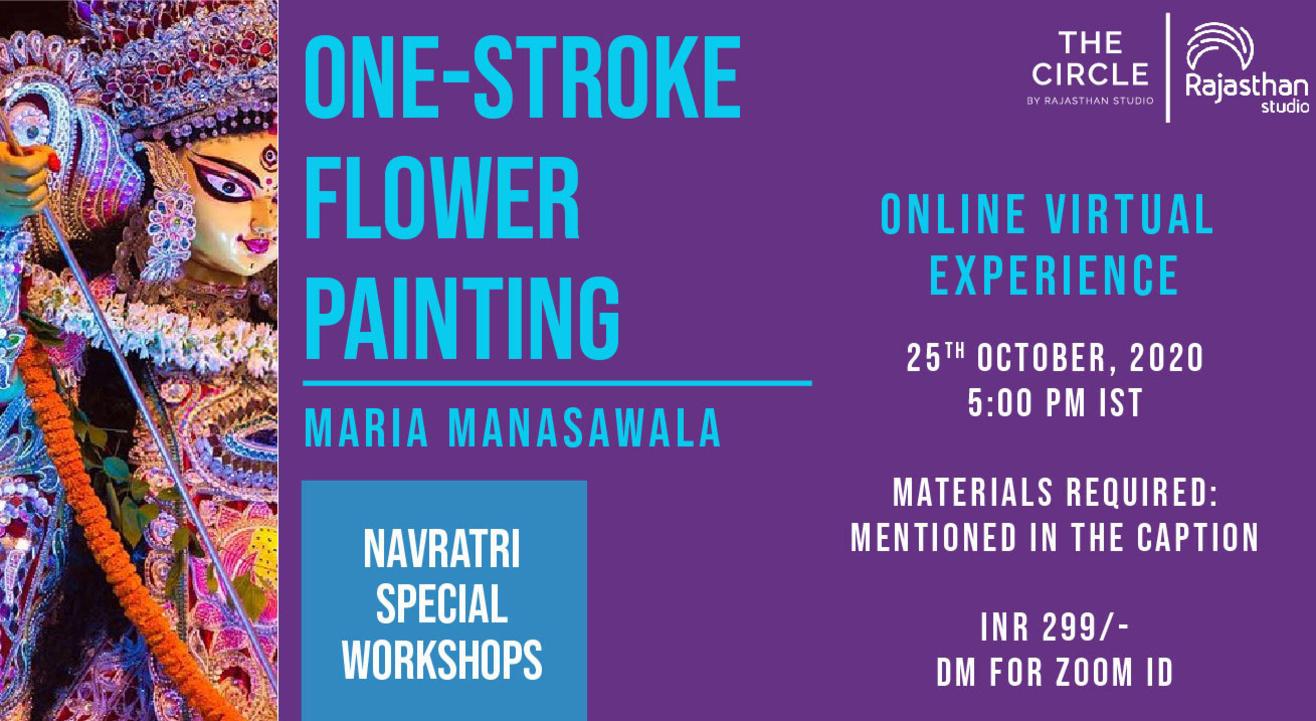 Navratri Specials - One Stroke Painting Workshop by Rajasthan Studio