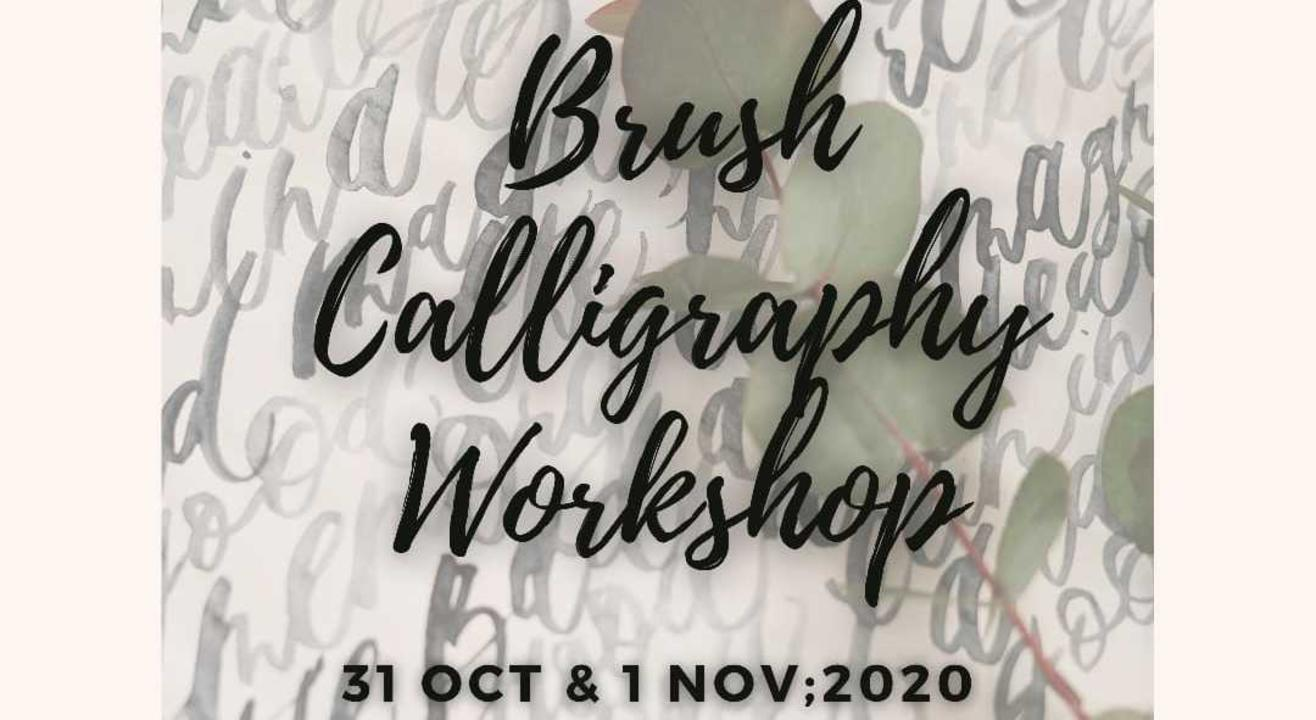 Brush Calligraphy Workshop -(Beginner Friendly)