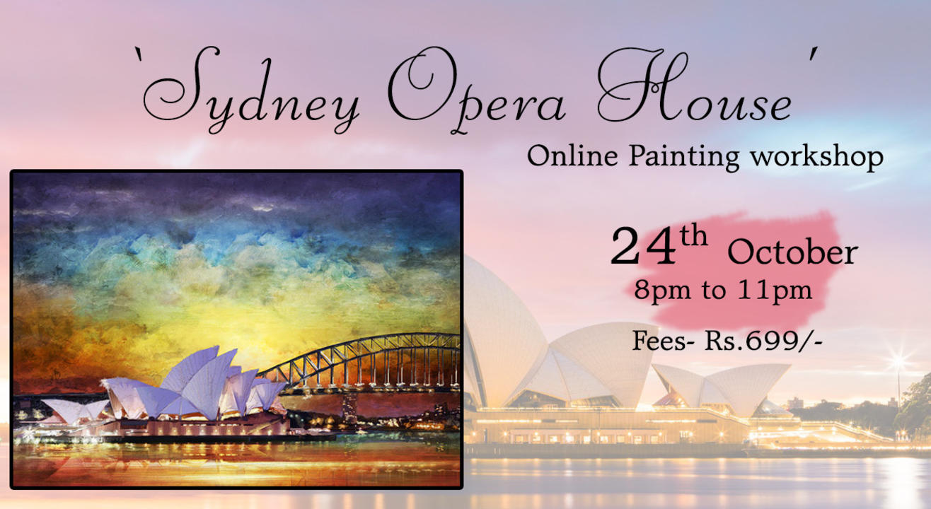 'Sydeny Opera House'  Painting workshop by Paintology