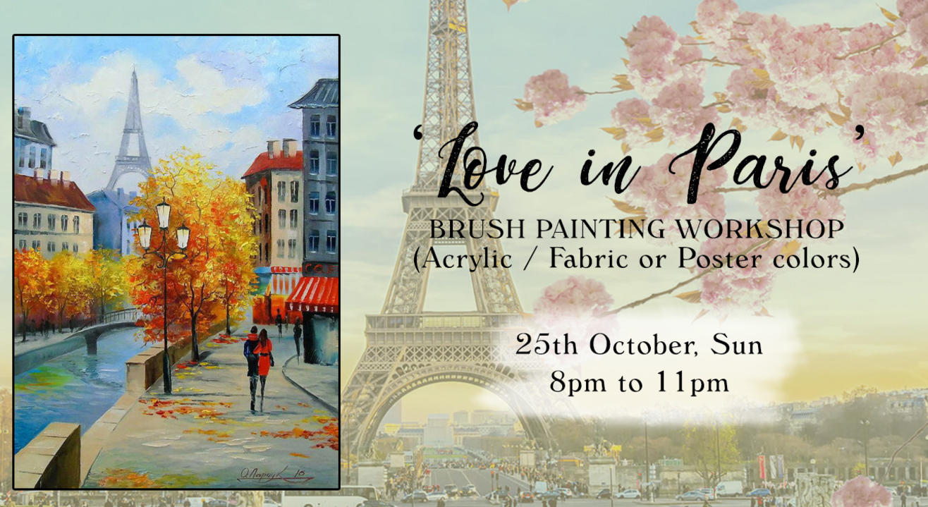 'Love in Paris' painting workshop by Paintology