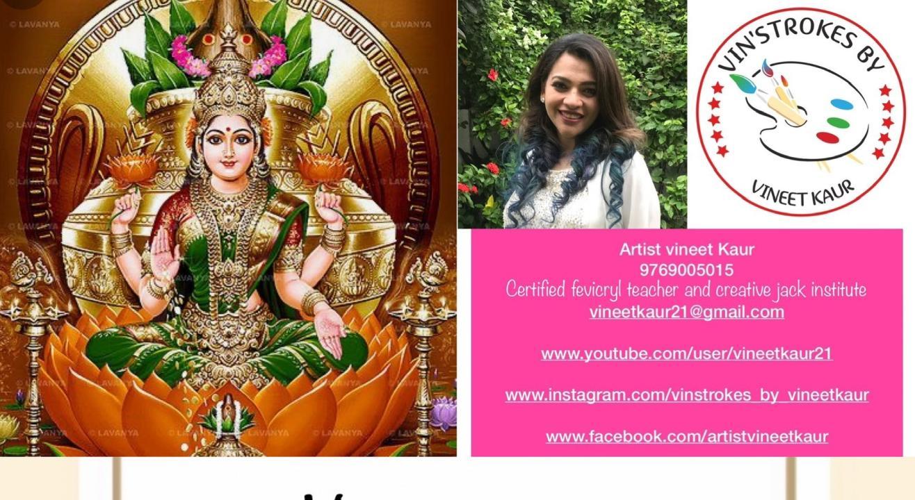 Goddess Lakshmi acrylic painting