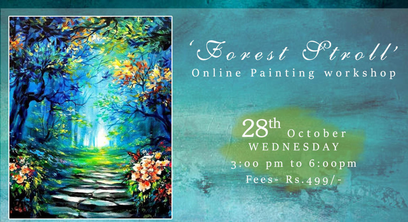 'Forest Stroll' Painting workshop by paintology