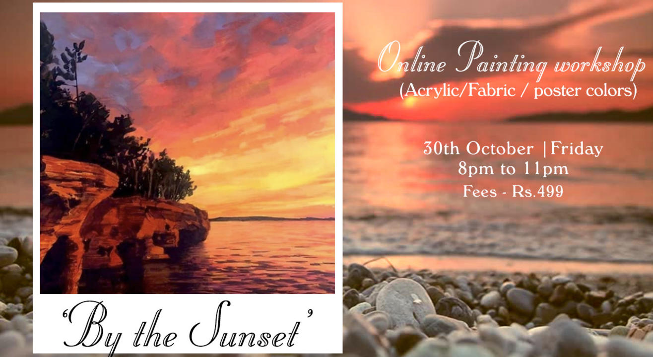 'By the Sunset' painting workshop by Paintology