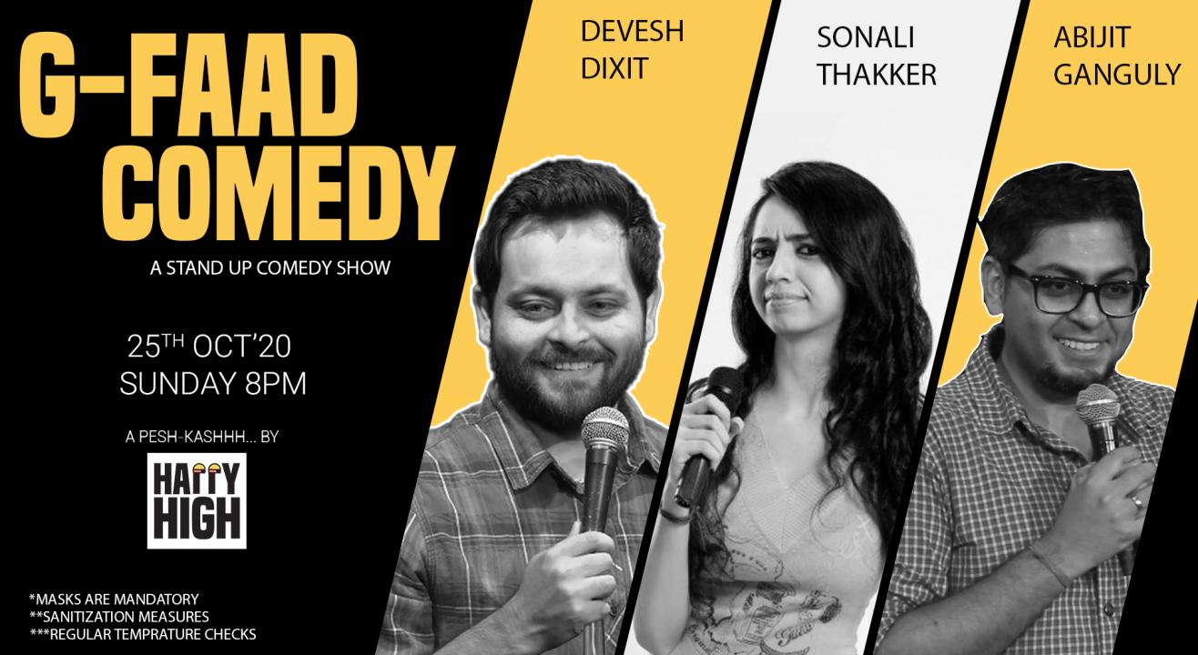 G-FAAD COMEDY Ft. Devesh, Sonali & Abijit