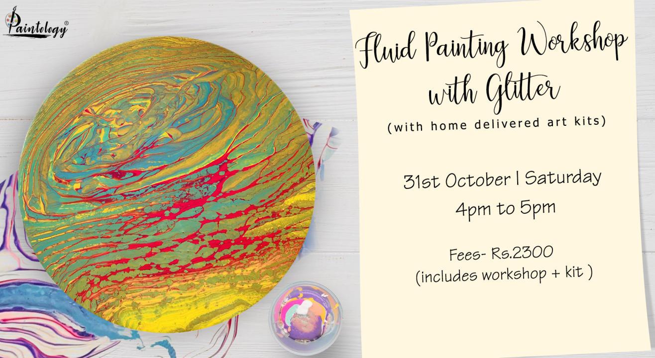 Fluid Art workshop with Kit by Paintology
