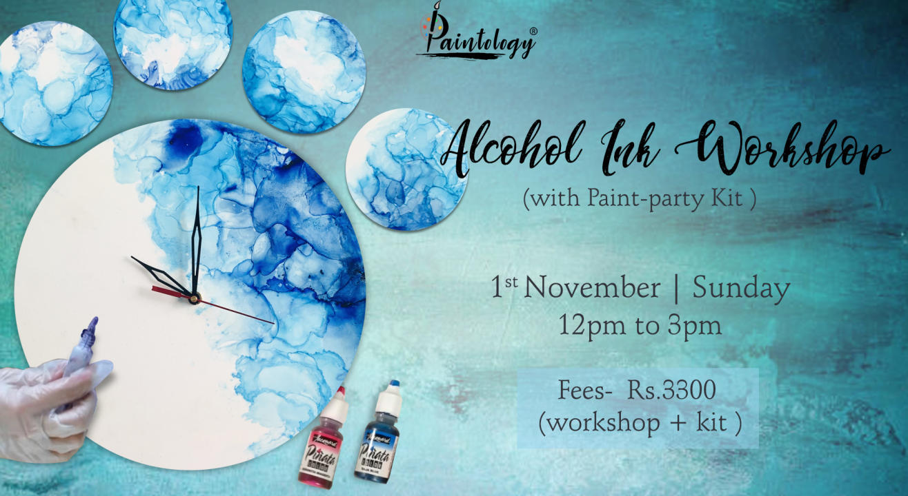 Alcohol Ink workshop with Kit by Paintology